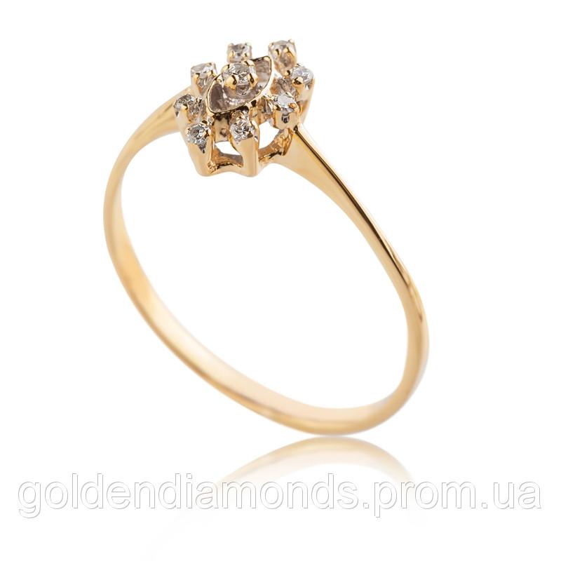 Женское кольцо из желтого золота с бриллиантами С10Л3№18