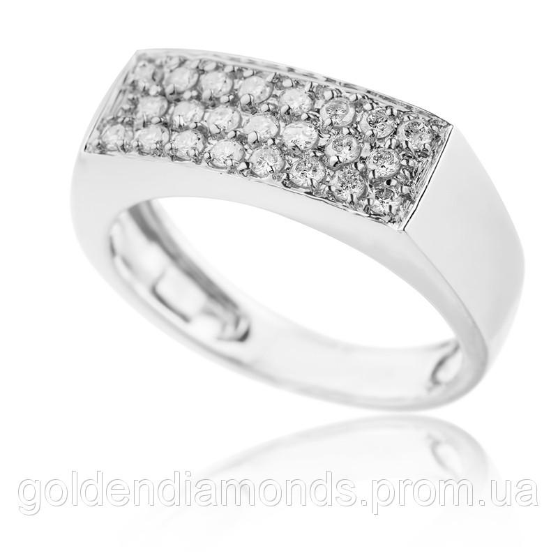Жіноче кільце з білого золота з діамантами С10Л3№14