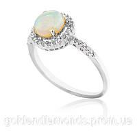 Женское кольцо из белого золота с бриллиантами С10Л3№23