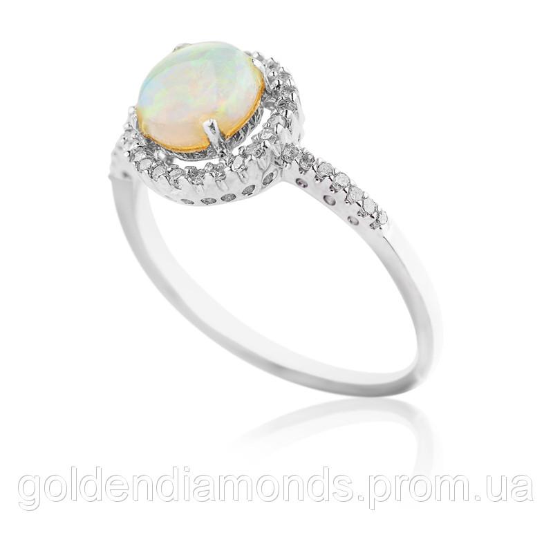Жіноче кільце з білого золота з діамантами С10Л3№23