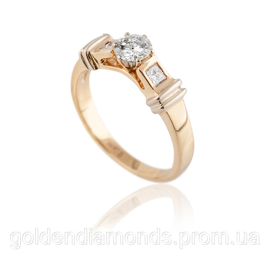 Женское кольцо из желтого золота с бриллиантами С13Л1№22