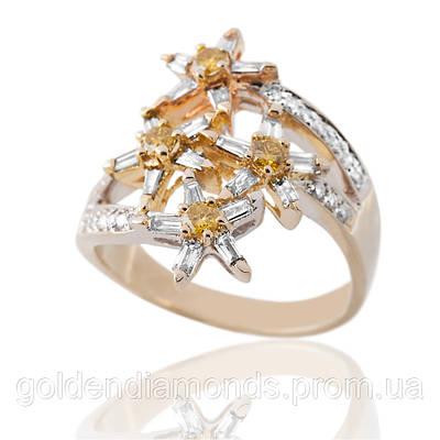 Золотое женское кольцо с бриллиантами С13Л1№32