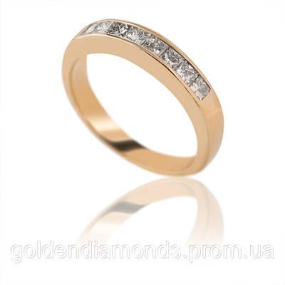 Женское кольцо из желтого золота с бриллиантами С13Л1№29