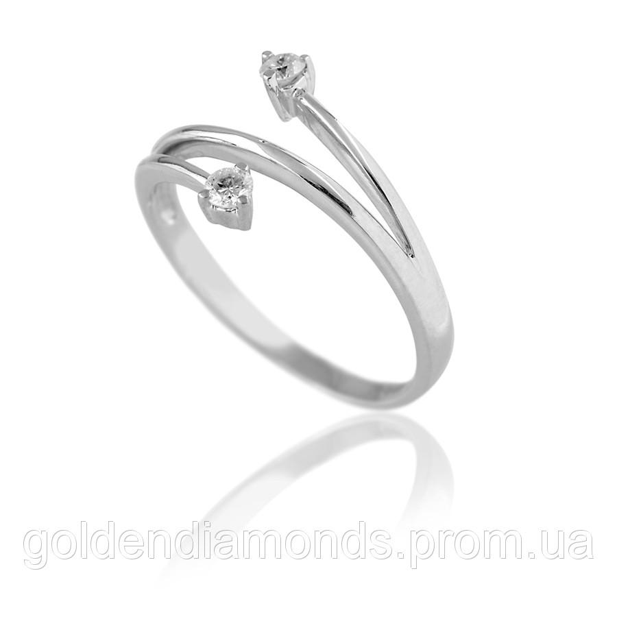 Золоте кільце з діамантами С13Л1№28
