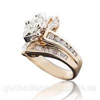 Золотое кольцо с бриллиантами С14Л1№26