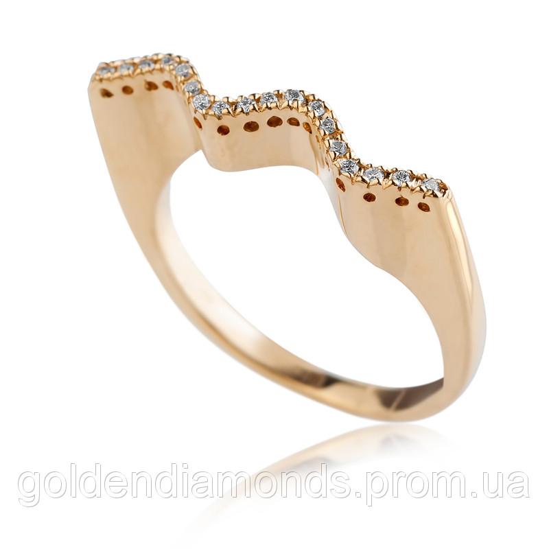 Золоте кільце з діамантами С15Л1№5