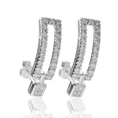 Женские серьги из белого золота с бриллиантами С15Л1№26