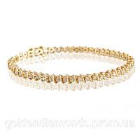 Женский браслет из желтого золота с бриллиантами С10Л3№34