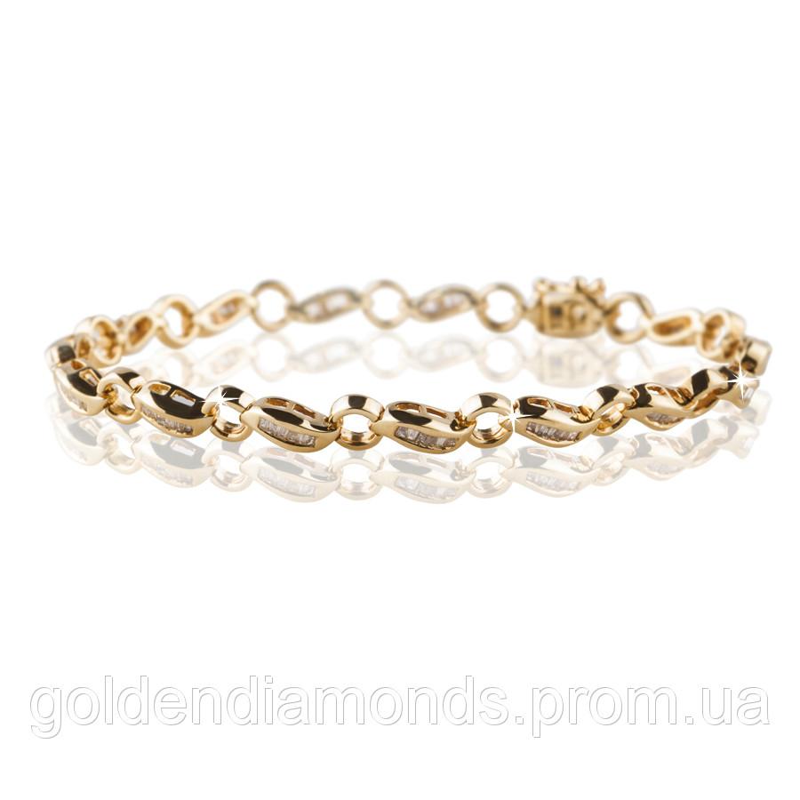 Женский браслет из желтого золота с бриллиантами С13Л2№15