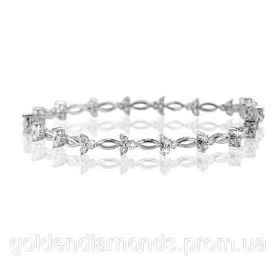 Женский браслет из белого золота с бриллиантами С14Л2№37