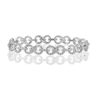 Женский браслет из белого золота с бриллиантами С15Л2№1