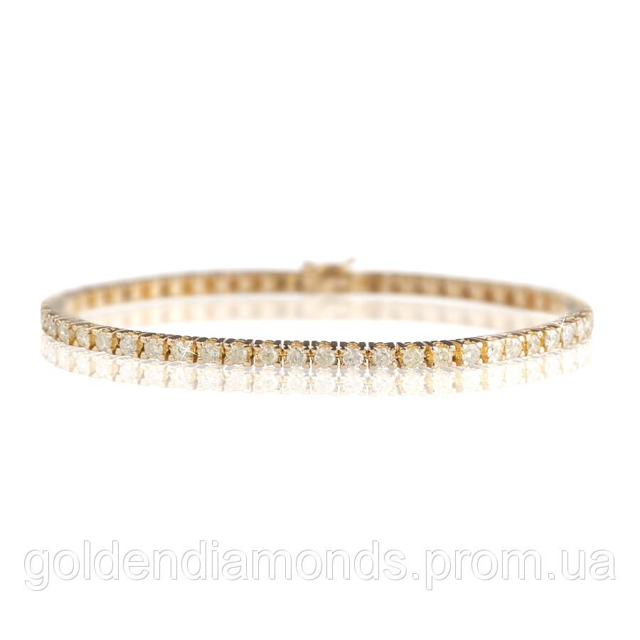 Жіночий браслет з жовтого золота з діамантами С15Л2№4