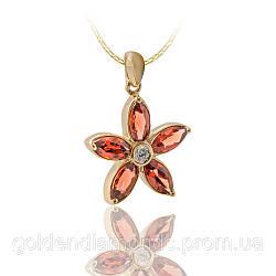 Женский кулон из желтого золота с бриллиантами С10Л2№27