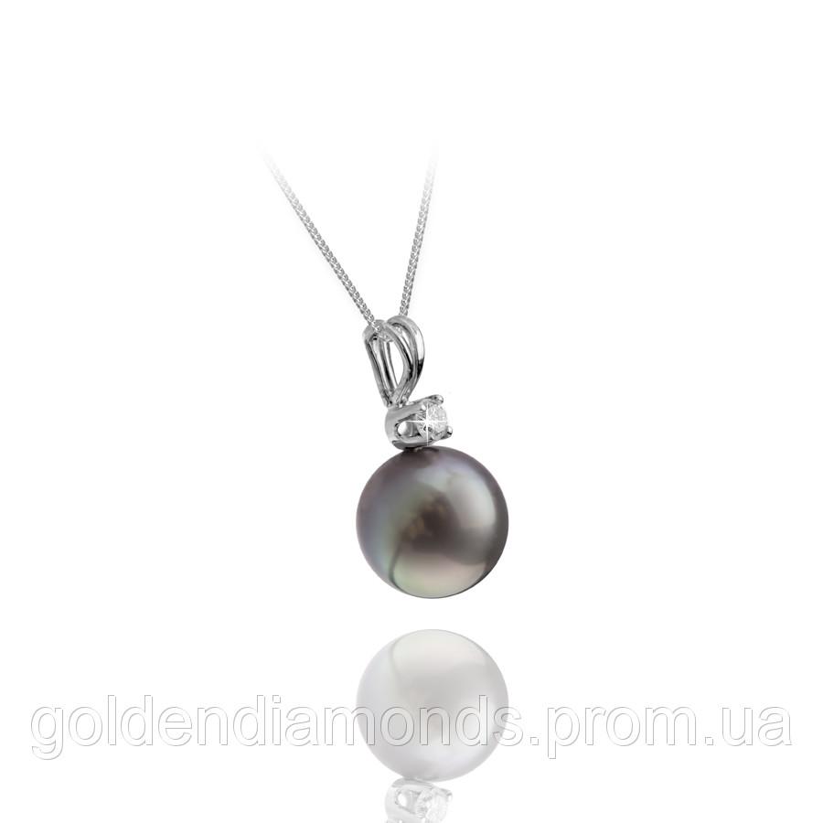 Золотой кулон с жемчугом и блиллиантами С15Л2№10