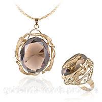 Кольцо и кулон из желтого золота С13Л2№1-2