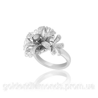 Золотое кольцо с черным бриллиантом С11Л1№1