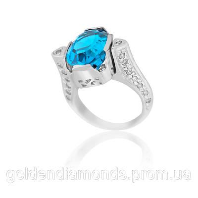 Золотое кольцо с топазом и бриллиантами С12Л2№7