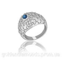 Золотое кольцо с сапфиром и бриллиантами С12Л3№1