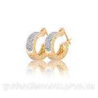 Женские серьги из желтого золота с бриллиантами С11Л1№13