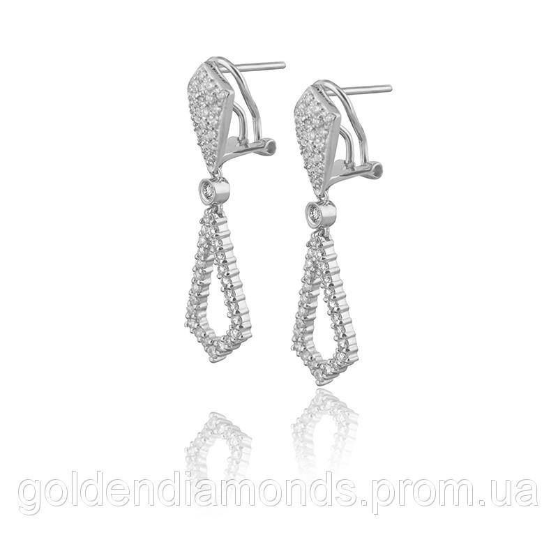 Женские серьги из белого золота с бриллиантами С12Л1№6