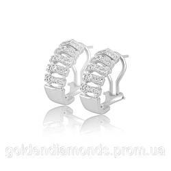 Женские серьги из белого золота с бриллиантами С12Л1№1