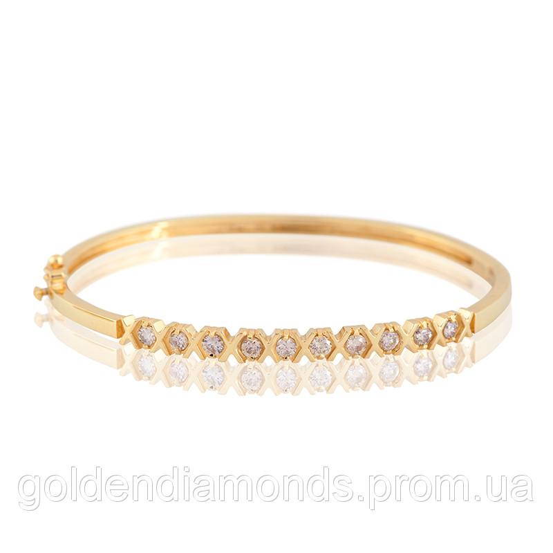 Женский браслет из желтого золота с бриллиантами С11Л1№38