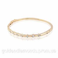 Женский браслет из желтого золота с бриллиантами С12Л3№27