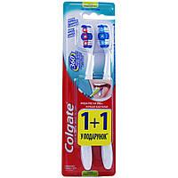 COLGATE 360 CLEAN Зубная щетка 1+1 (средняя)