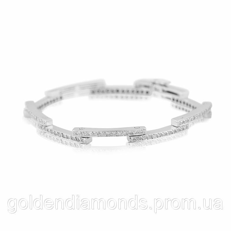 Женский браслет из белого золота с бриллиантами С12Л3№25