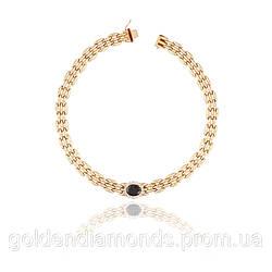 Золотое колье с сапфиром и бриллиантами С12Л4№14