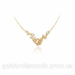 Золотое колье с бриллиантами С12Л4№17