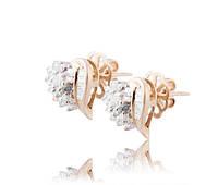 Женские серьги из желтого золота с бриллиантами С17Л1№36