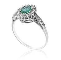 Золотое кольцо с бриллиантами и изумрудом С11Л1№5