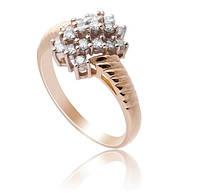 Золотое кольцо с бриллиантами С16Л1№4
