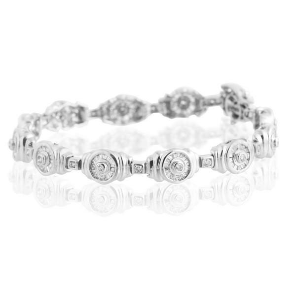 Жіночий браслет з білого золота з діамантами С17Л2№65