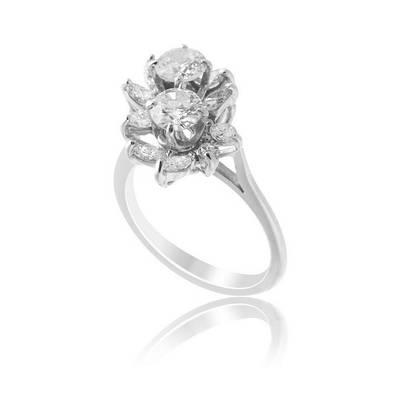 Золотое кольцо с бриллиантами С16Л1№41