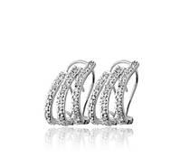 Маленькие золотые серьги с бриллиантами С17Л1№33