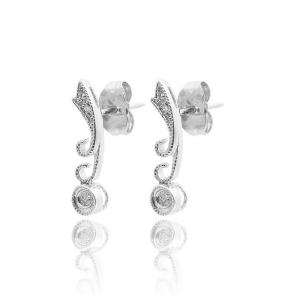 Маленькі сережки з білого золота С17Л1№60
