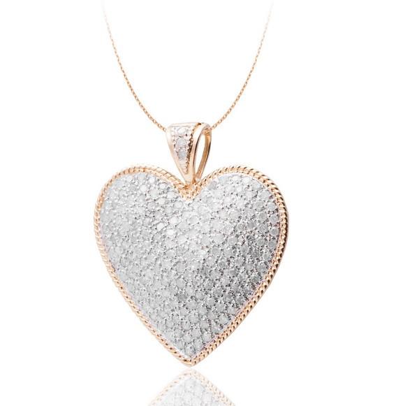 Женский кулон из желтого золота с бриллиантами С17Л1№38