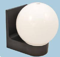 Светильник настенный сферический (пластиковый) 613 Шар опаловый гладкий (белый)