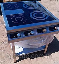 Индукционная плита напольная 2 конфорки по 1,8 кВт и 2 конфорки по 3,5 кВт