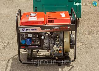 Дизельный генератор KJ Power KDE 6500E (5 кВт)