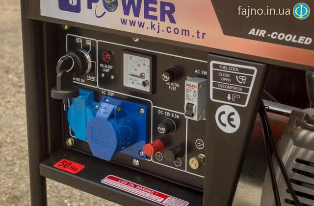 Дизельный генератор KJ Power KDE 6500E фото 2