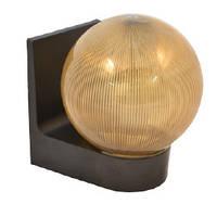 Светильник настенный сферический (пластиковый) 623 Шар дымчатый ребристый