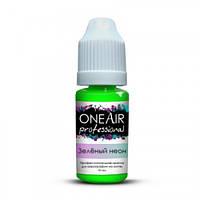 Неоновая краска для аэрографии OneAir зеленая 10 мл.