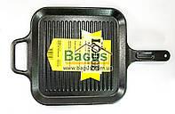 Сковорода чугунная гриль (29х29см) квадратная с чугунной ручкой Lodge (США) P12SGR3, фото 1