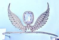 Диадема с крылышками с покрытием из серебра