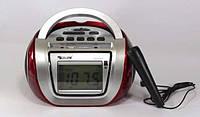 Радио Бумбокс колонка караоке часы MP3 Golon RX 656Q BLC