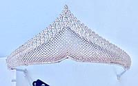 """Диадема """"Алмазная сетка"""" с покрытием из серебра"""