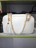 Стильная белая сумка